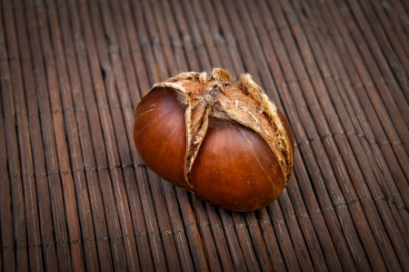 An image of roasted chestnut marron isolated. Castanea Sativa Stock Photo - 17427972
