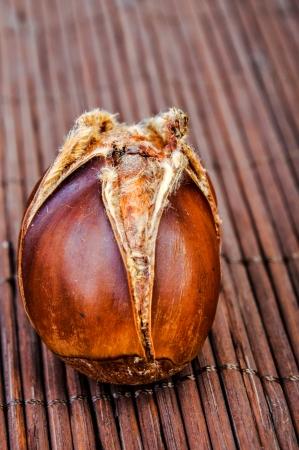 An image of roasted chestnut marron isolated. Castanea Sativa Stock Photo - 17428026
