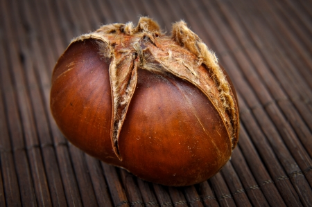 An image of roasted chestnut marron isolated. Castanea Sativa Stock Photo - 17427984