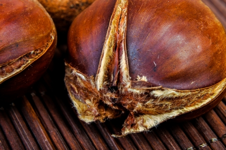 An image of roasted chestnut marron isolated. Castanea Sativa Stock Photo - 17428030