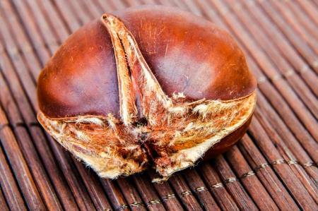 An image of roasted chestnut marron isolated. Castanea Sativa Stock Photo - 17428021