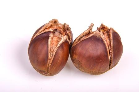 An image of roasted chestnut marron isolated. Castanea Sativa Stock Photo - 17427201