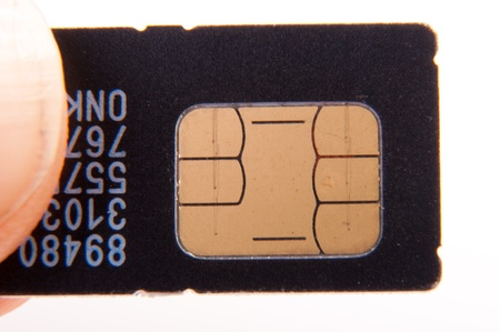 An image of sim card isolated on white Stock Photo - 17427764