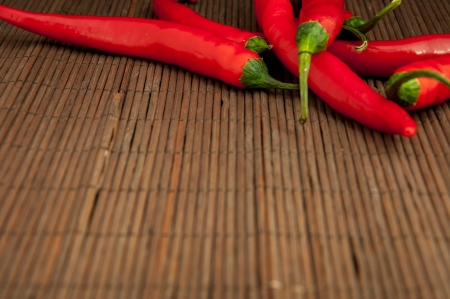 An image of red chilli pepper isolated Foto de archivo