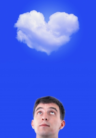 An image of men  in cloud cuckoo land Stock Photo - 17449426