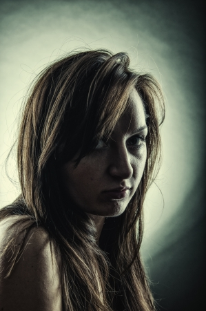 An image of women's dark portrait Stock Photo - 17449419