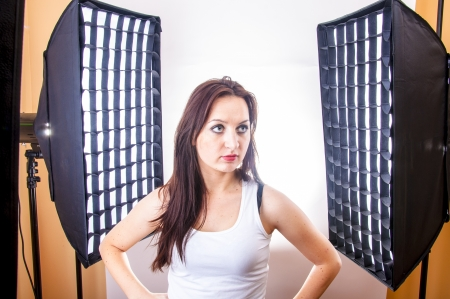 An image of girl in photo studio during shoots Stock Photo - 17449413