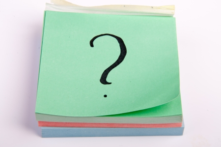 An image of question mark on sticky note photo