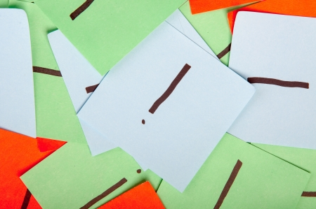 interjection: An image of sticky notes with interjection Stock Photo