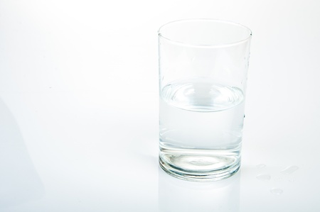 An image of half water glass Stock Photo - 17611210