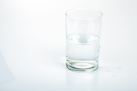 An image of half water glass