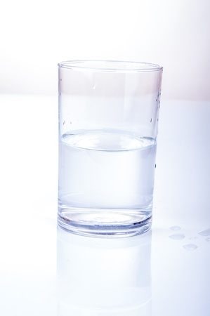 An image of half water glass photo