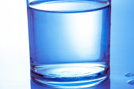 glass half full: An image of half water glass