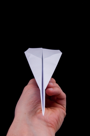 An image of origami plane isolated Stock Photo - 17611168