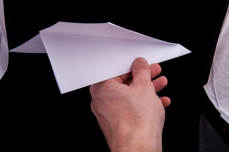 An image of origami plane isolated Stock Photo - 17612008