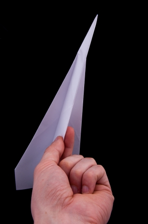 An image of origami plane isolated Stock Photo - 17611199