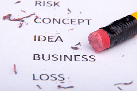 slang: An image of business words and pencil Stock Photo