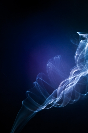 An image of smoke on black background photo