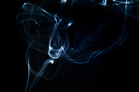An image of smoke on black background Stock Photo - 18292478