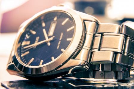 An image of elegant wristwatch Stock Photo