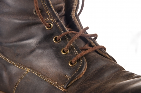 An image of brown leather shoe photo