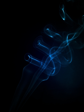 An image of smoke on black background Stock Photo - 19005387