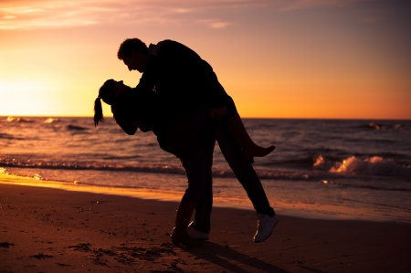 An image of couple on the beach photo
