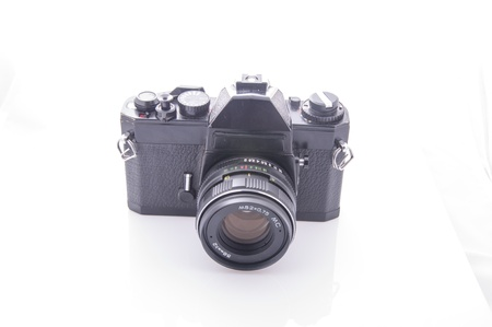 35 mm: An image of old 35 mm film camera
