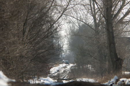 An image of terrain road in winter photo
