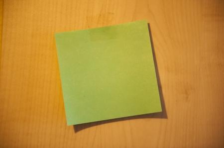 An image of sticky notes on desk photo