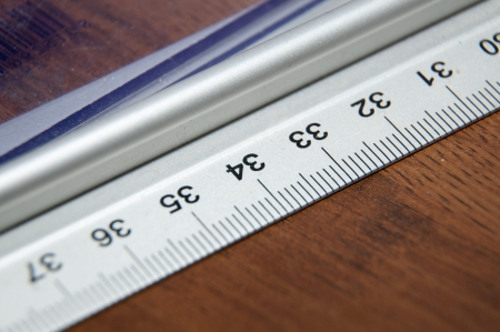 An image of ruler close up