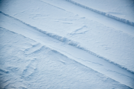 An image of snow footprint photo