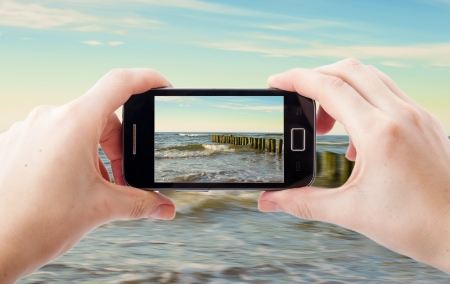 taking a wife: An image of mobile phone photography