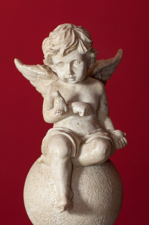 An image of ceramic angel figure photo