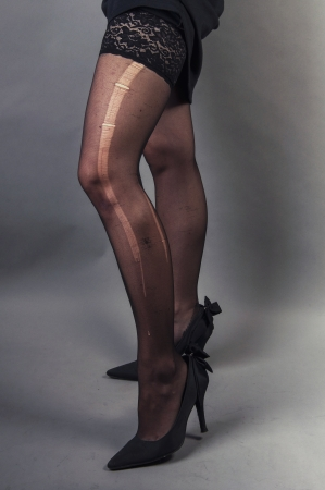 an image of attractive young woman wears pantyhose photo