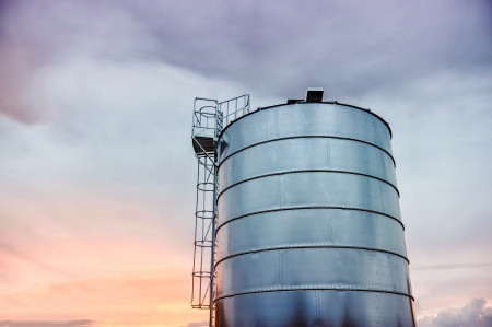 an image of silo for grain Stock Photo