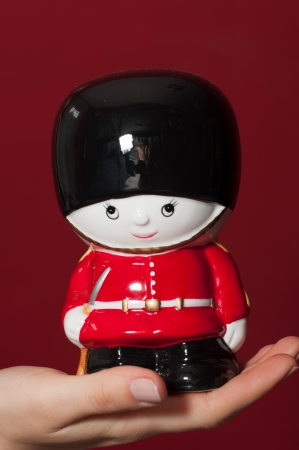 Ceramic British Royal guard figure photo