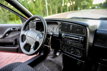 an image of interior of the car photo