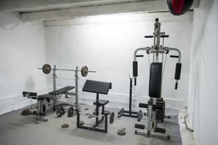 an image of amateur home gym