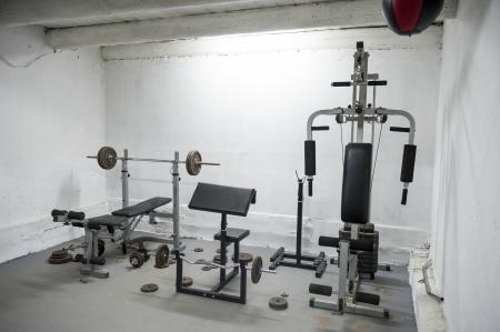 een beeld van amateur home gym