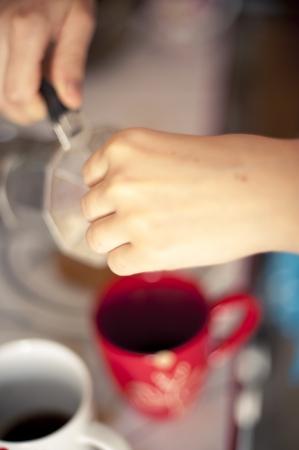 An image of Italian coffee brewing photo