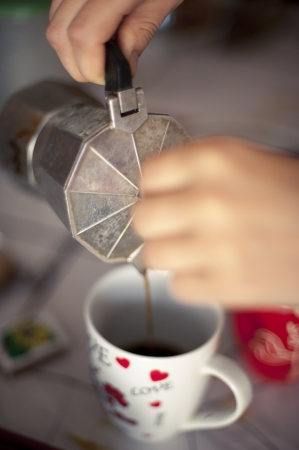 An image of Italian coffee brewing photo