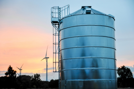 an image of silo for grain photo