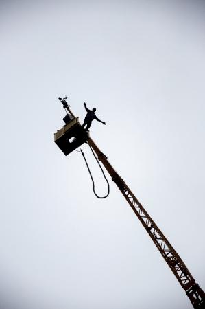 een beeld van de bungee jump