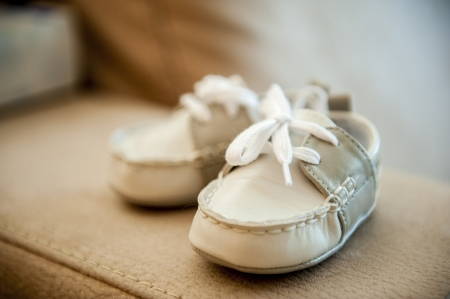 an image of children's shoes Stock Photo