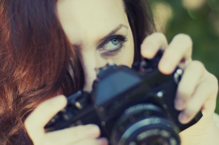 an image beautiful woman photographer