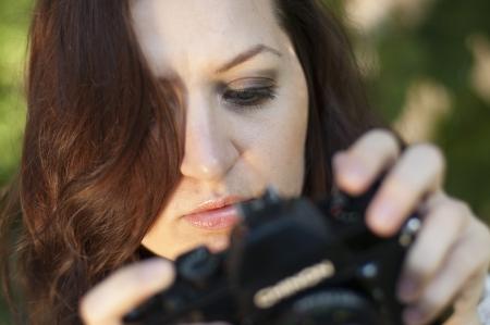 an image beautiful woman photographer photo