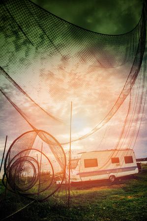 bretagne: An image of fishing net