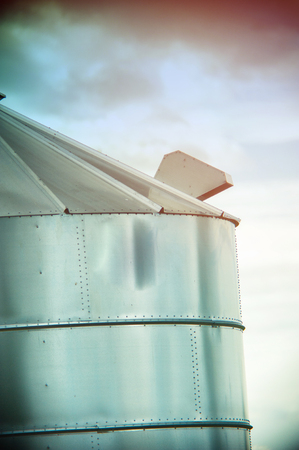 iowa agriculture: An image of silo for corn Stock Photo