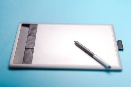 Graphic tablet with pen for illustrators and designers